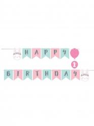 Guirlande en papier Happy Birthday Petit Lapin 15,2 x 192 cm