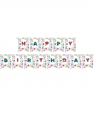 Guirlande Happy Birthday arc-en-ciel 15,3 cm x 2,74 m