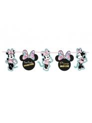 Guirlande en carton effet métallique premium Minnie™ 102 x 16 cm