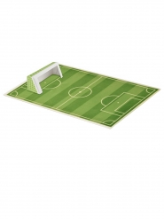 Décoration en sucre Terrain de foot avec cages 29 x 19 cm