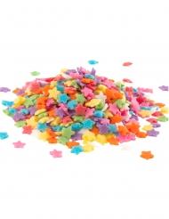 Confettis en sucre Etoiles multicolores 100 g