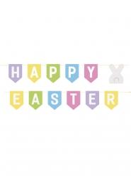 Guirlande en carton Happy Easter multicolore 2m13