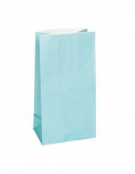 12 Sacs à cadeaux en papier bleus 25 x 9 cm