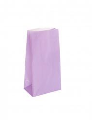 12 Sacs à cadeaux en papier lavandes 25 x 9 cm