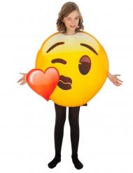 Déguisement Emoji bisou coeur™ enfant