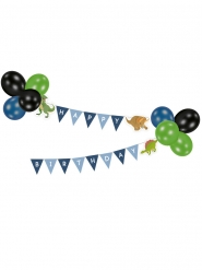 Guirlande avec ballons Happy Birthday Grands Dinosaures 2 m