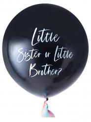 Ballon géant Little sister or Little brother ? noir 91 cm