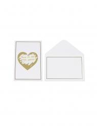 5 Cartes à gratter avec enveloppes blanches 15 x 10 cm