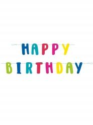 Guirlande en carton happy birthday lama 1,8 m