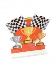 Centre de table en bois podium course automobile 12,2 x 13 cm