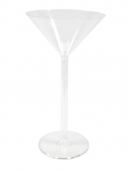 Coupe à monter en plastique vase martini 46 cm
