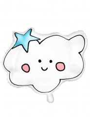 Ballon aluminium en forme de nuage blanc 54 x 43 cm