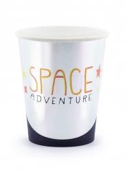 6 Gobelets en carton space adventure 200 ml