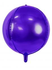 Ballon aluminium rond violet métallisé 40 cm