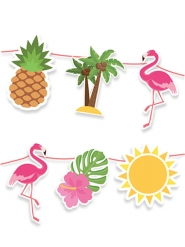 Guirlande en carton flamingo party 600 x 25 cm