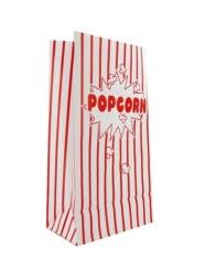 10 Sachets en papier popcorn rayés blancs et rouges 12 x 8 cm