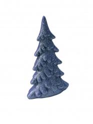 Sapin en résine pailleté bleu marine 13 cm