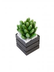 Succulente en résine pailletée 7,9 x 4,7 cm