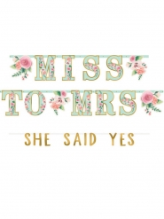 2 Guirlandes lettres en carton from Miss to Mrs