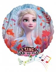Ballon en aluminium musical La Reine des Neiges 2™ 71 cm