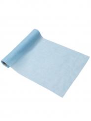 Chemin de table mousseline bleu ciel 28 cm x 5 m