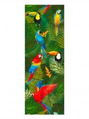 Chemin de table en tissu non tissé oiseaux tropicaux 30 cm x 5 m
