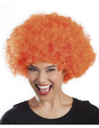 Perruque afro disco orange adulte-1