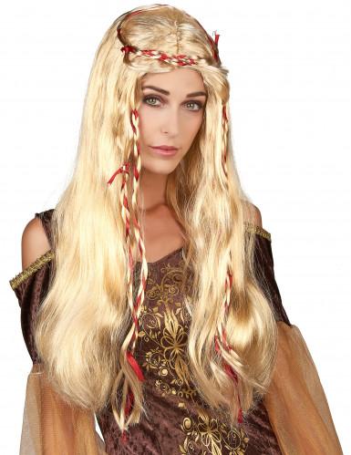 Perruque médiévale blonde femme