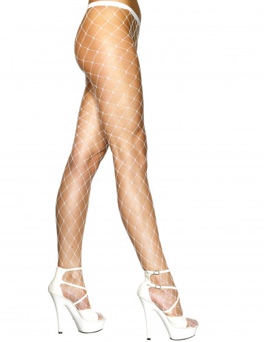 Collants mailles blanches femme