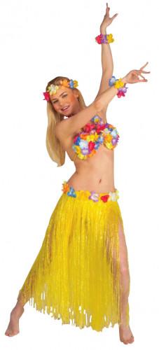 Set Hawaï jaune adulte