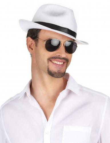 Chapeau gangster blanc adulte-1