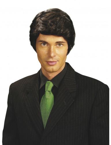 Perruque noir homme
