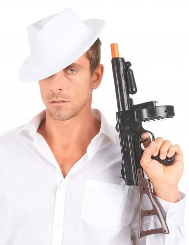 Chapeau de gangster blanc adulte-2