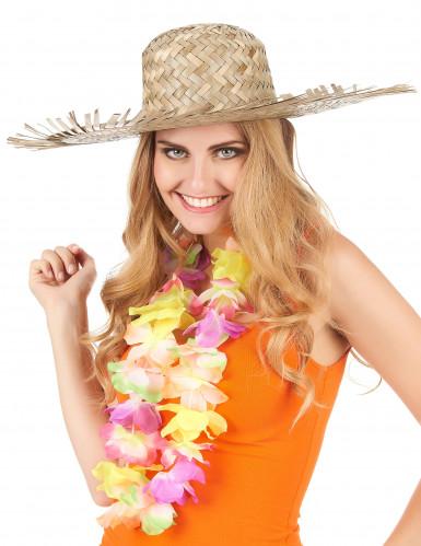 Chapeau de paille Hawaï adulte-2