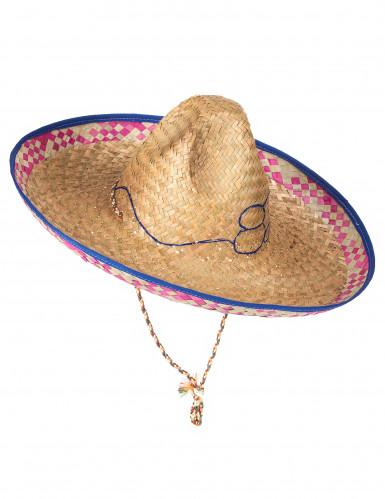 Chapeau mexicain en paille adulte