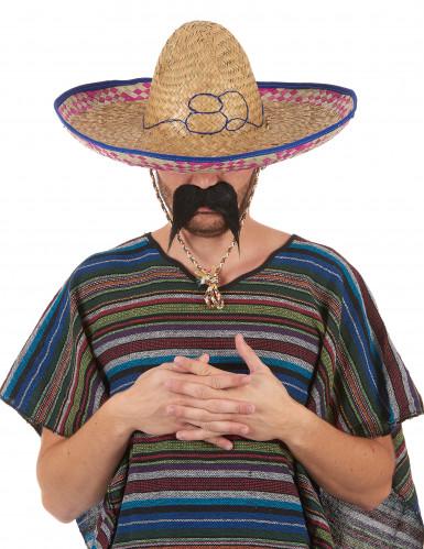 Chapeau mexicain en paille adulte-1