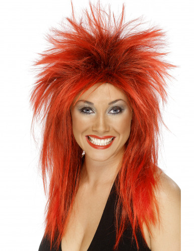 Perruque rock rouge femme
