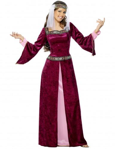 Déguisement reine médiévale efffet velours femme