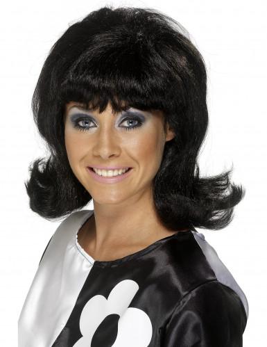 Perruque brune années 60 femme