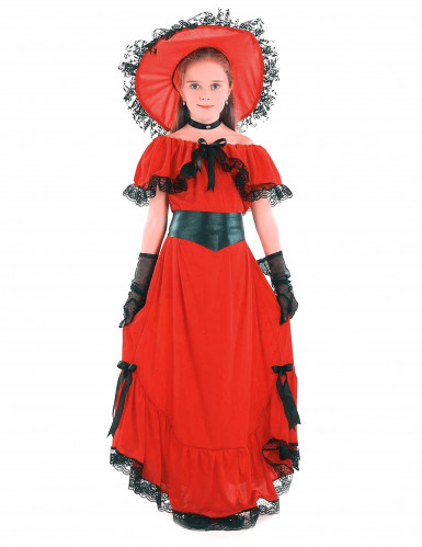 Déguisement Scarlett rouge fille