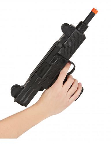 Pistolet mitrailleur UZI soldat militaire en plastique-1
