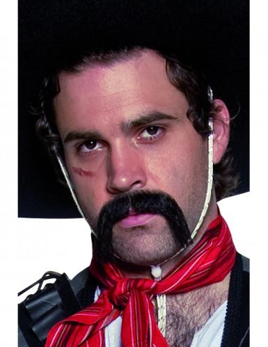 Moustache noire mexicain adulte