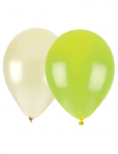 24 Ballons nacrés ivoire ou vert