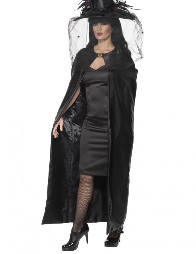 Cape sorcière noire adulte Halloween