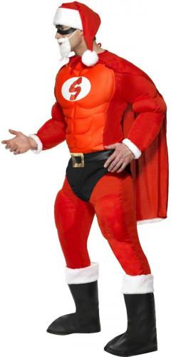 Déguisement  Père Noël musclé homme-2