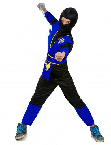 Déguisement ninja bleu garçon-1