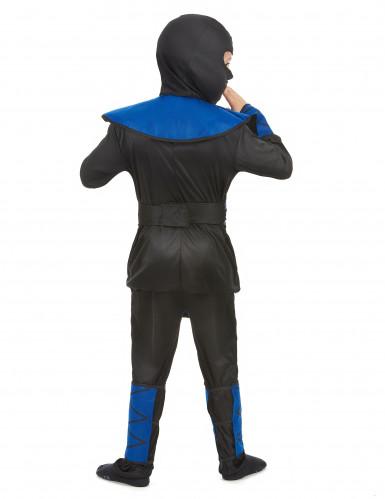 Déguisement ninja bleu garçon-2