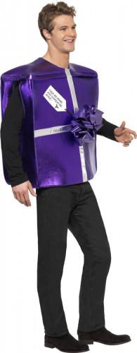 Déguisement cadeau violet adulte-2