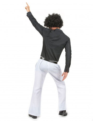 Pantalon disco blanc homme-2