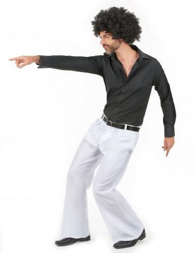 Pantalon disco blanc homme-1